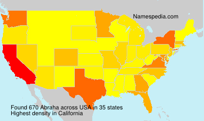 Surname Abraha in USA