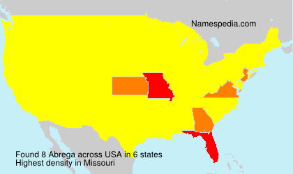 Surname Abrega in USA