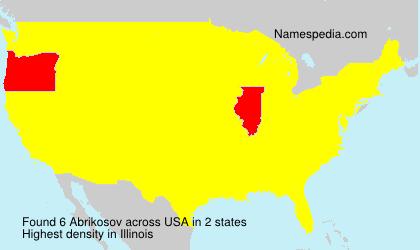 Surname Abrikosov in USA