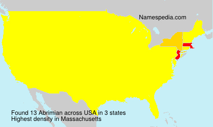 Surname Abrimian in USA