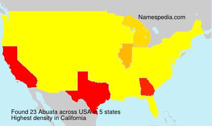 Surname Abuata in USA