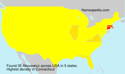 Surname Abucewicz in USA