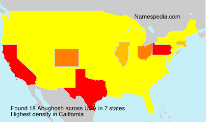 Surname Abughosh in USA