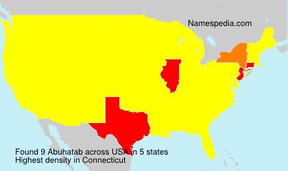 Familiennamen Abuhatab - USA