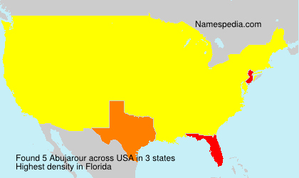 Surname Abujarour in USA