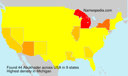 Surname Abukhader in USA
