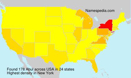 Familiennamen Abul - USA