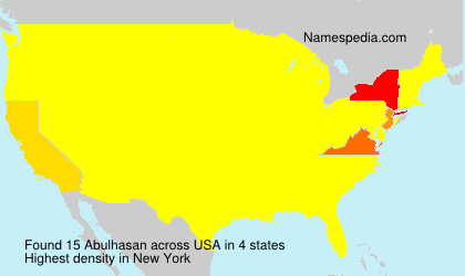 Surname Abulhasan in USA