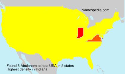 Familiennamen Abulohom - USA