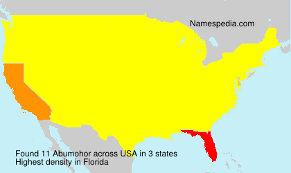 Surname Abumohor in USA