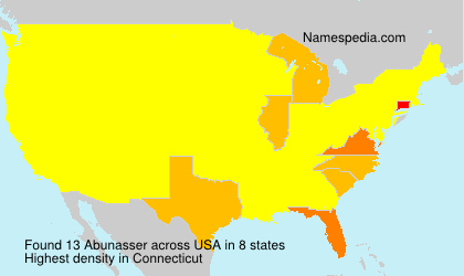 Familiennamen Abunasser - USA