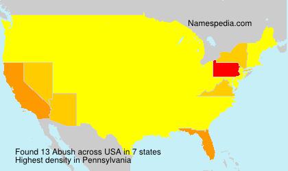 Surname Abush in USA