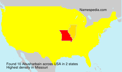 Surname Abusharbain in USA