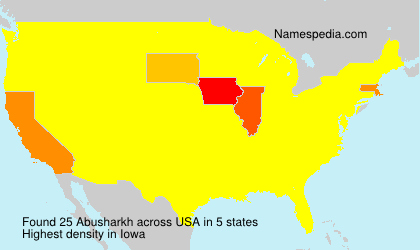 Surname Abusharkh in USA