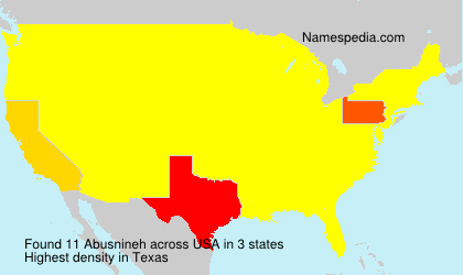 Surname Abusnineh in USA