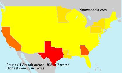 Surname Abutair in USA