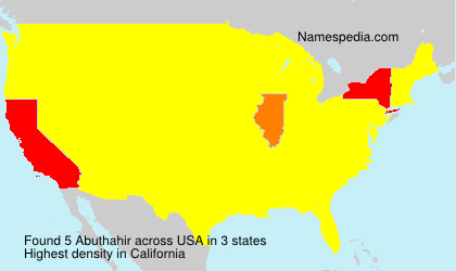 Surname Abuthahir in USA