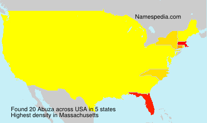 Surname Abuza in USA