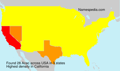 Surname Acac in USA