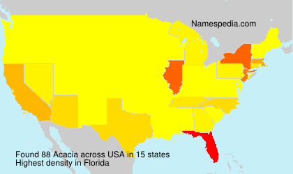 Surname Acacia in USA
