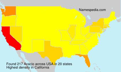 Surname Acacio in USA