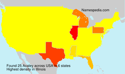 Surname Acaley in USA