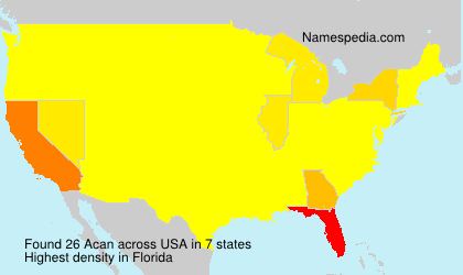 Surname Acan in USA