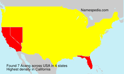 Surname Acang in USA