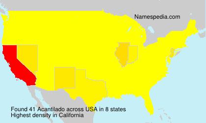 Surname Acantilado in USA