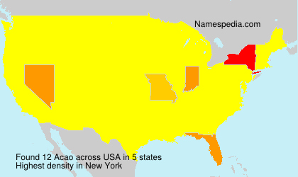 Surname Acao in USA