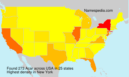 Surname Acar in USA