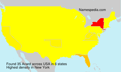 Surname Acard in USA