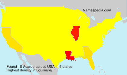 Surname Acardo in USA