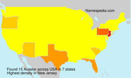 Surname Acaster in USA