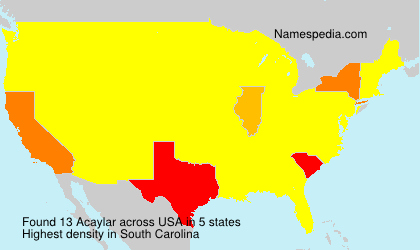 Surname Acaylar in USA