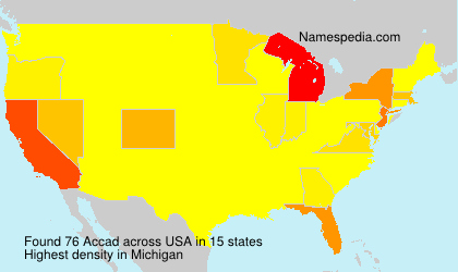 Surname Accad in USA