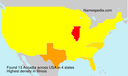 Surname Accadia in USA