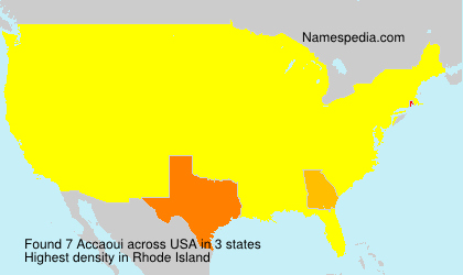 Surname Accaoui in USA