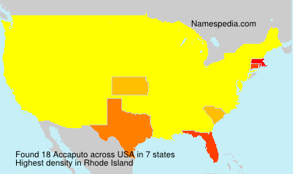Surname Accaputo in USA
