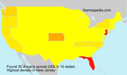 Surname Accaria in USA
