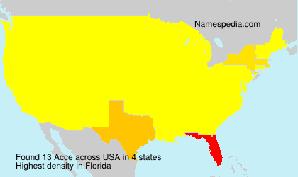 Surname Acce in USA