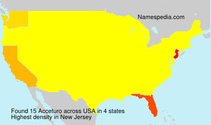 Surname Acceturo in USA