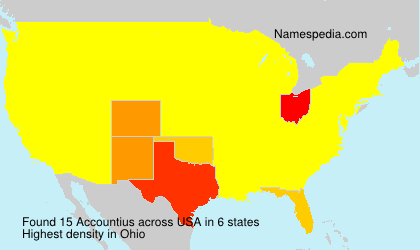Surname Accountius in USA