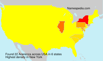 Surname Acerenza in USA