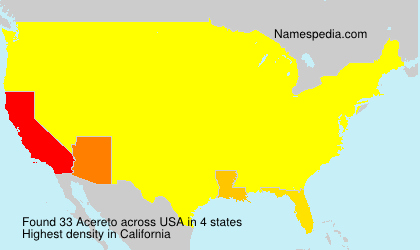 Surname Acereto in USA