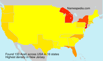 Surname Aceti in USA