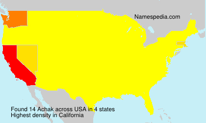 Surname Achak in USA