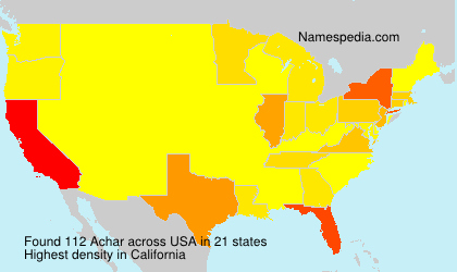 Surname Achar in USA