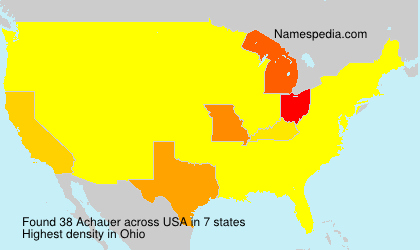 Surname Achauer in USA