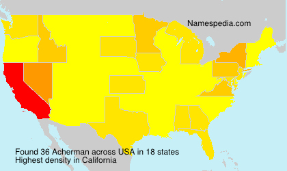 Surname Acherman in USA